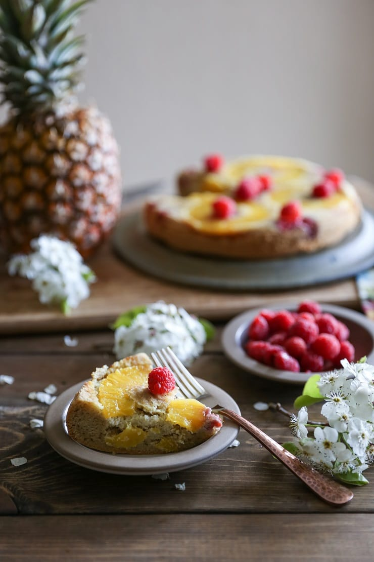 Upside down pineapple cake - a grain-free recipe that happens to be paleo friendly!