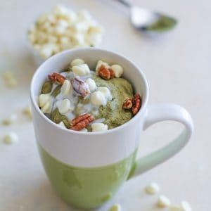 Gluten-Free and Naturally Sweetened Matcha Mug Cake