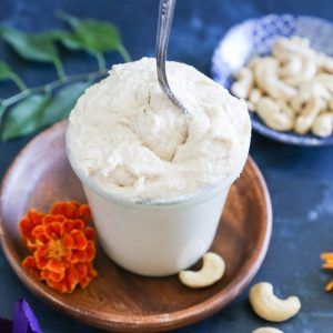 "Vegan ""Cream Cheese"" Frosting made with cashews 