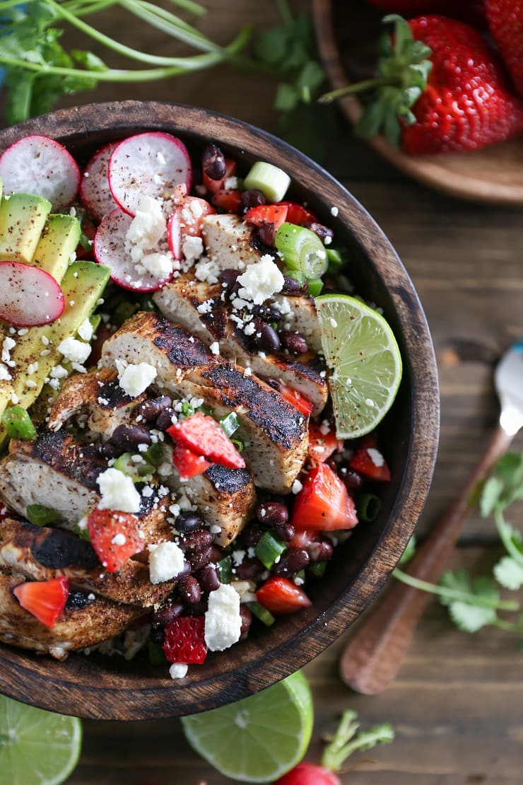 Balsamic Grilled Chicken with Strawberry Black Bean Salsa - a fresh and vibrant meal perfect for weeknight dinners