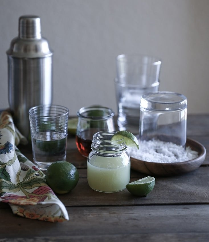 Ingredients for Naturally Sweetened Margaritas