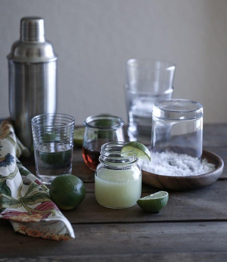 Ingredients for Naturally Sweetened Margaritas