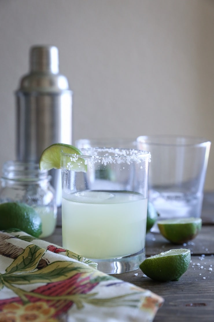 Naturally Sweetened Margaritas - a clean cocktail only requiring 3 ingredients