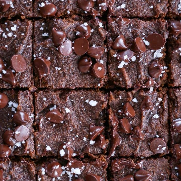 Paleo Sweet Potato Fudge Brownies - made with sweet potato, coconut flour, and pure maple syrup - in your blender! Gluten free, grain free, and dairy free