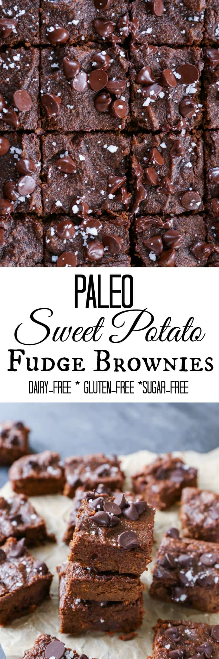 Paleo Sweet Potato Fudge Brownies - made in your blender with sweet potato, coconut flour, and pure maple syrup - gluten-free, dairy-free, paleo-friendly!