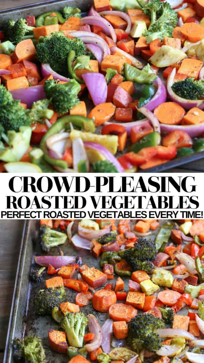 Perfect Roasted Vegetables - an easy recipe for roasted vegetables that turns out amazing every time! Vegan, vegetarian, paleo, whole30 and healthy