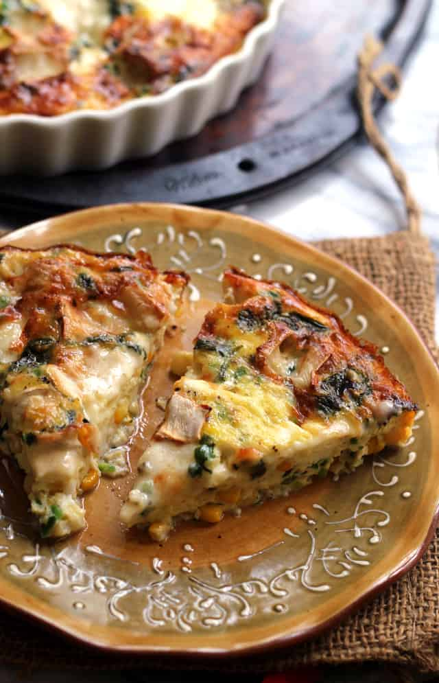 Corn, Jalapeno, and Brie Frittata from Eats Well With Others