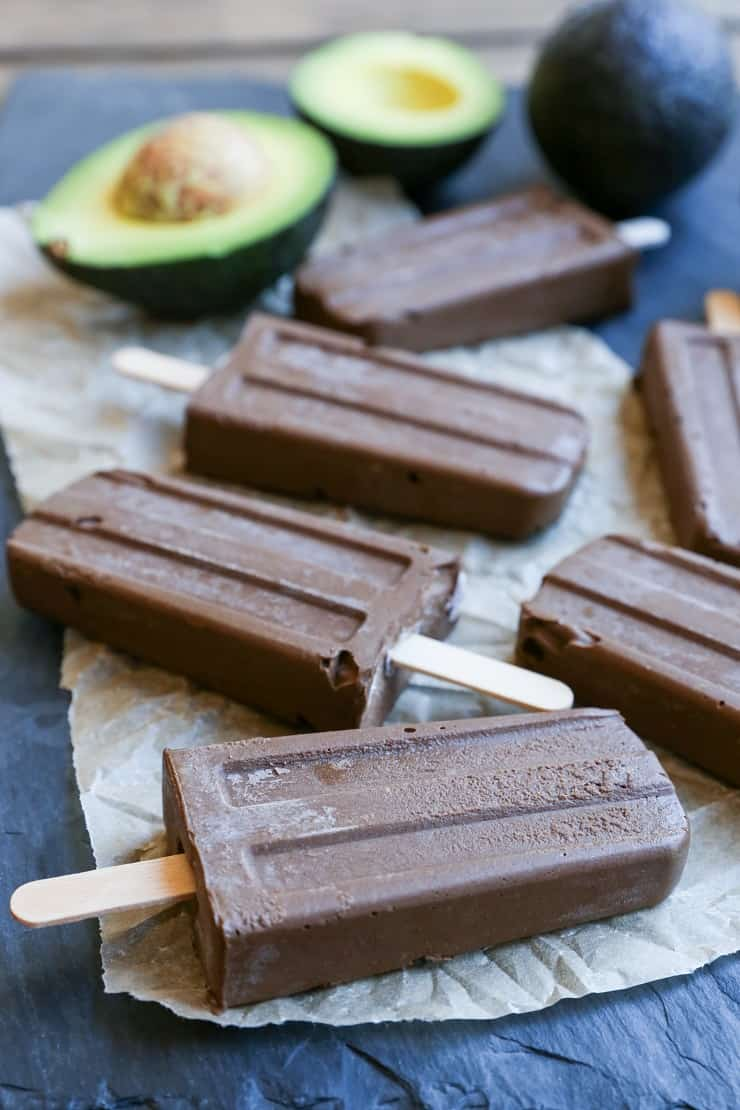 Dairy-Free Fudgesicles made with all whole food ingredients for a vegan and paleo dessert!