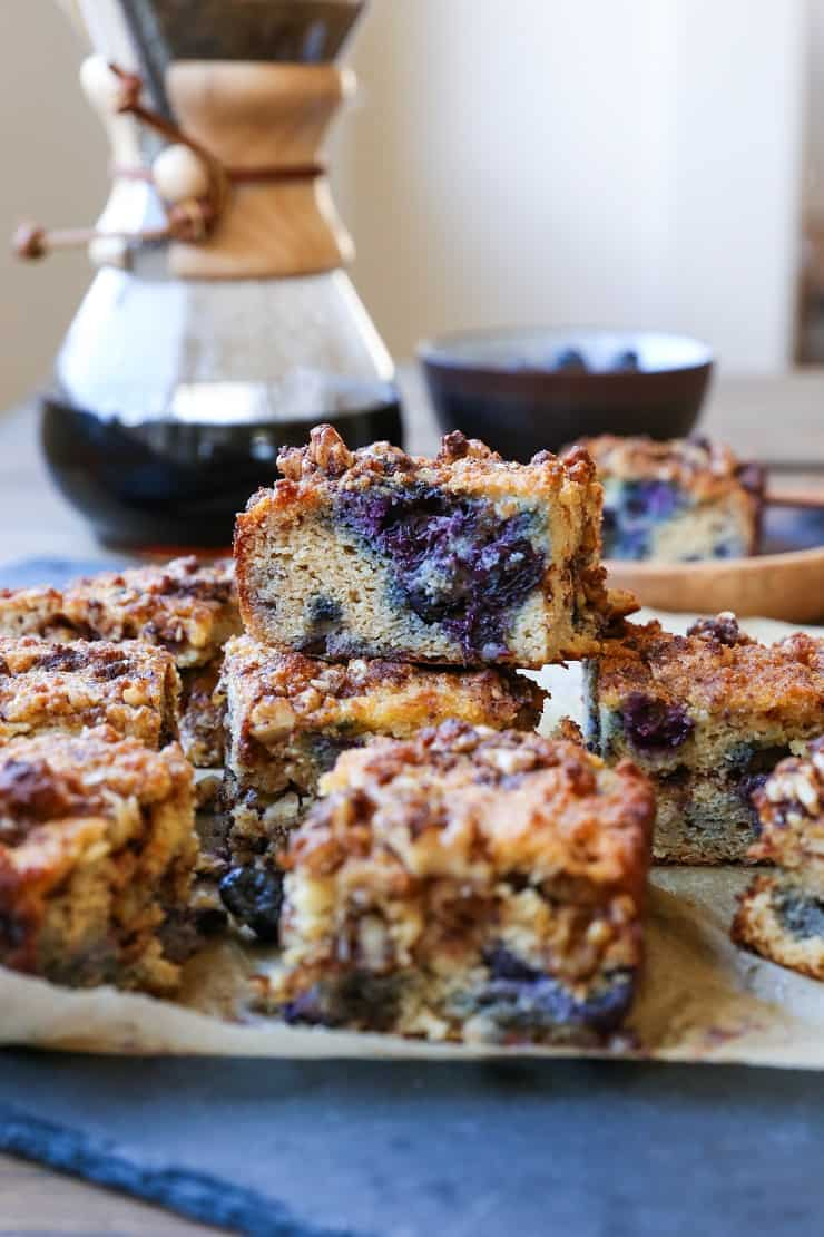 Paleo Blueberry Coffee Cake The Roasted Root