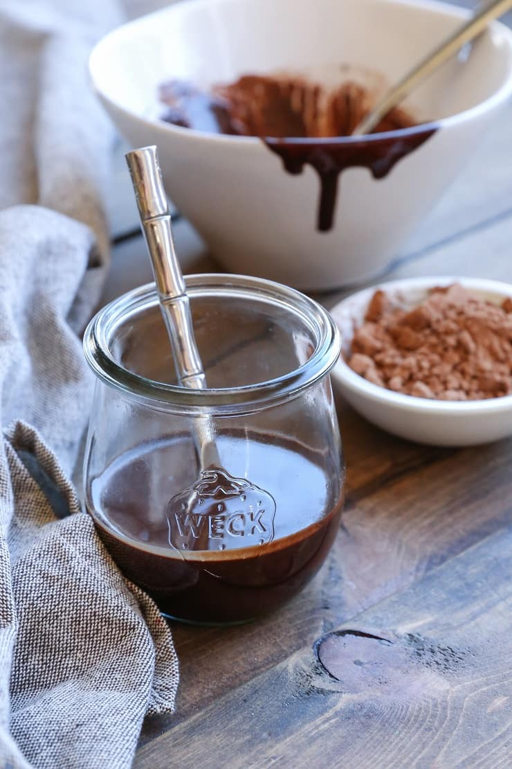 Dairy-Free Chocolate Magic Shell for topping your ice cream! This naturally sweetened recipe is paleo, vegan, rich and decadent!