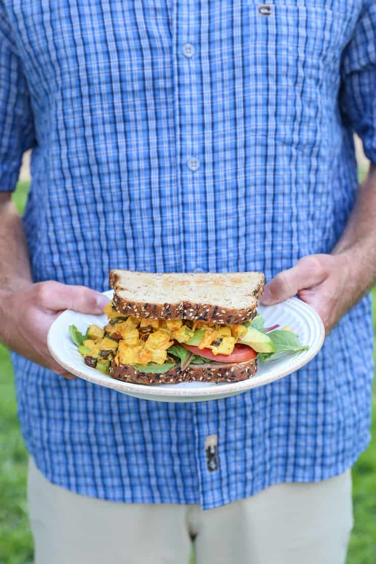Curried Chicken Salad Sandwiches - a summertime favorite for picnics and barbecues