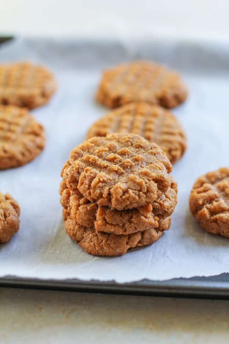 Flourless Peanut Butter Cookies - grain-free, dairy-free, refined sugar-free and delicious!