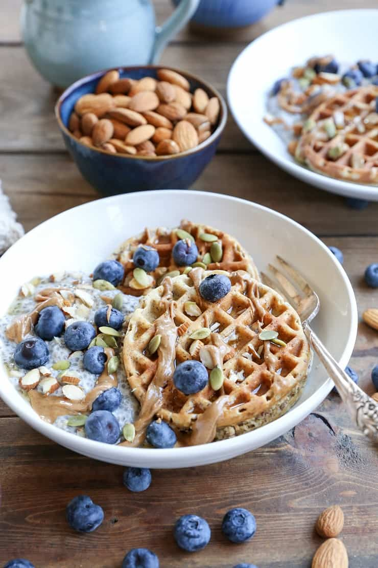 Grain-Free Hazelnut Flour Waffles - dairy-free, gluten-free, and paleo. These easy blender waffles are healthy and come together quickly!