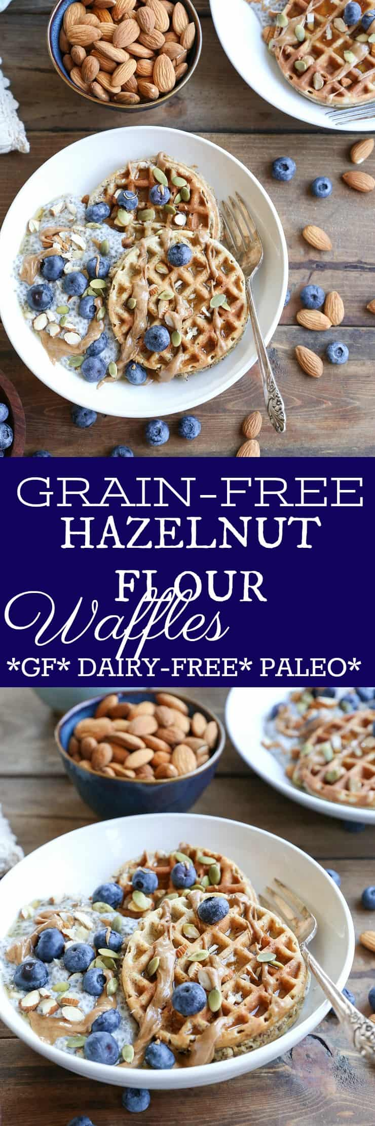 Grain-Free Hazelnut Flour Waffles - dairy-free, gluten-free, and paleo. These easy blender waffles are healthy and quick to prepare!
