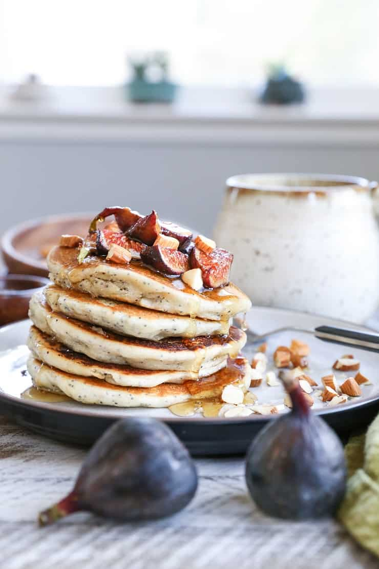 Vegan poppy seed pancakes with caramelized figs the roasted root gluten free vegan poppy seed pancakes with caramelized figs the batter comes together quickly ccuart Images