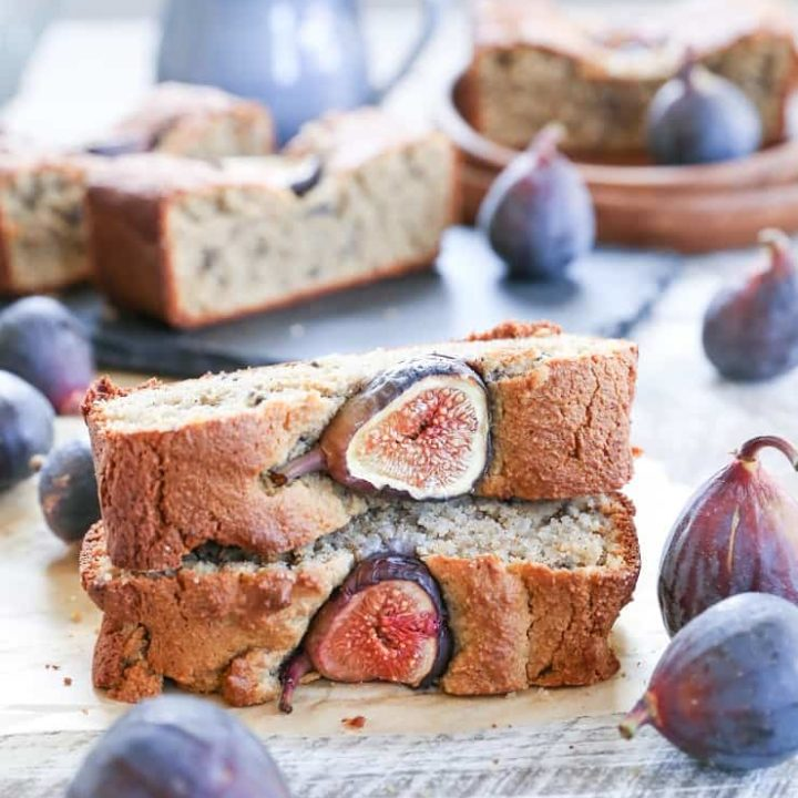 Paleo Almond Fig Quickbread - grain-free, naturally sweetened, dairy-free, and healthy breakfast or snack recipe!