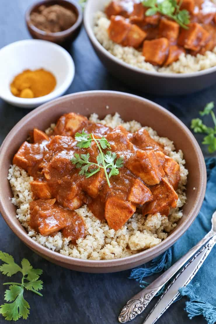 Paleo Butter Chicken - a cleaner version of classic Indian Butter Chicken without the heavy cream. Easy to prepare and flavorful! #healthy #dinner #recipe