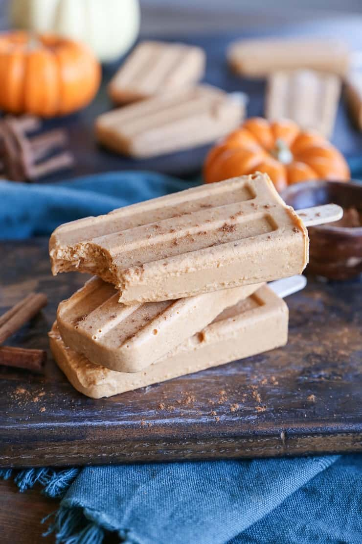 Pumpkin Spice Popsicles - dairy-free, refined sugar-free, vegan and paleo
