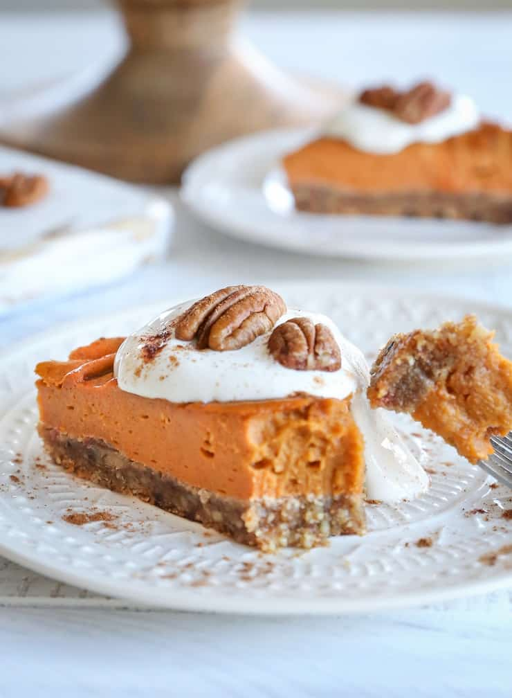Vegan Bourbon Orange Sweet Potato Pie - grain-free, dairy-free, refined sugar-free, and almost paleo