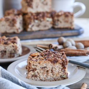 Chai Spiced Paleo Coffee Cake made with coconut flour and almond flour - this grain-free, dairy-free, refined sugar-free treat is absolutely delicious and healthy!