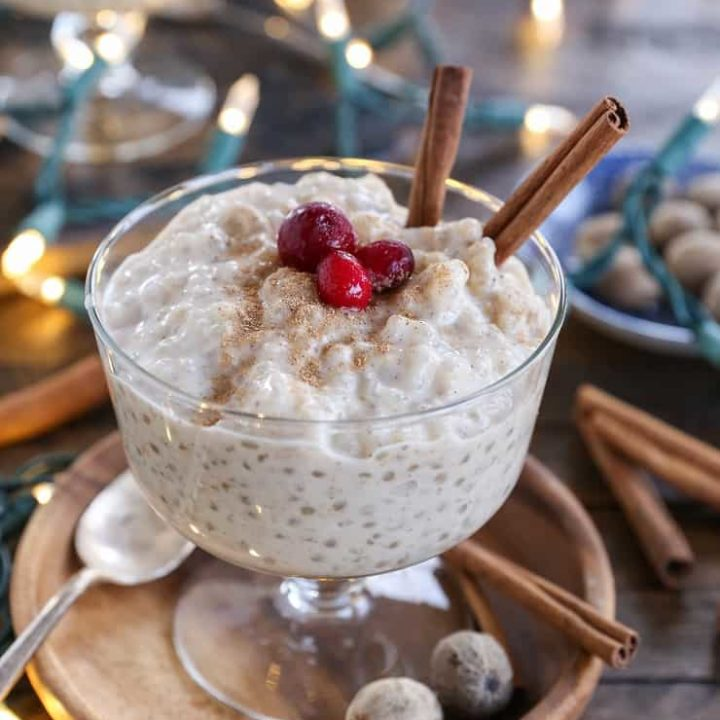 Eggnog Tapioca Pudding (Paleo) - a refined sugar-free, dairy-free dessert that is rich and decadent for the holidays