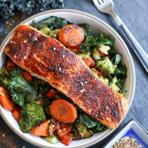 Crispy Skin Salmon takes only 15 minutes to make! Serve it up with your favorite sides for an amazing nourishing meal.