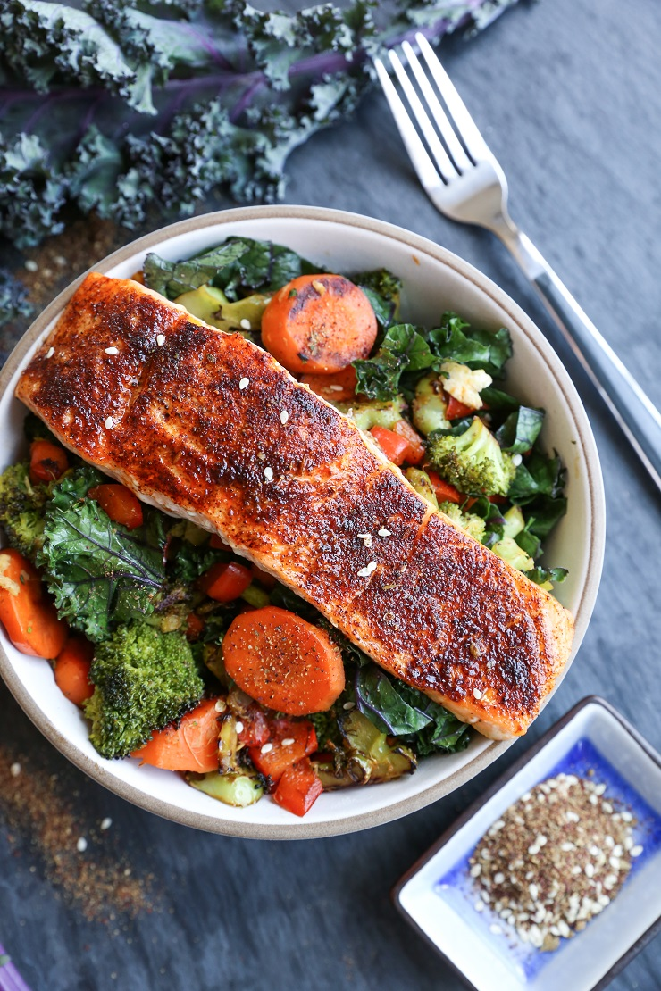 Crispy Skin Salmon Recipe - an easy recipe for making crispy salmon in the oven in 15 minutes