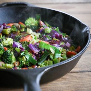 Easy Go-To Stir Fry Vegetables Recipe - simple to prepare, colorful, nutritious #paleo #whole30