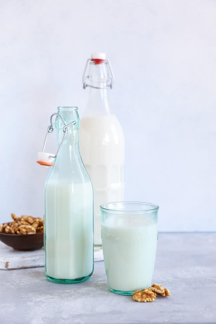 How to Make Walnut Milk, or any other type of nut milk, at home. This easy photo tutorial will inspire you to never buy almond milk from a store again!