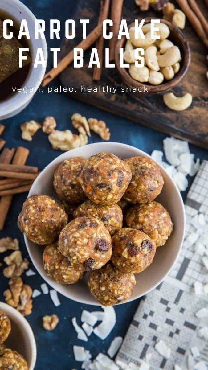 Paleo Carrot Cake Fat Balls - vegan, paleo, grain-free, healthy snack recipe