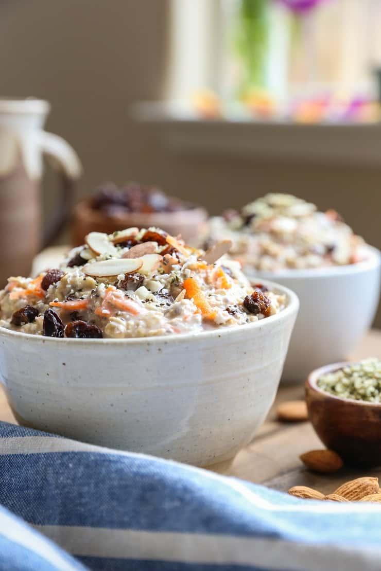 Carrot Cake Overnight Oats - a nutrient-packed vegan breakfast recipe perfect for starting the day on the right foot