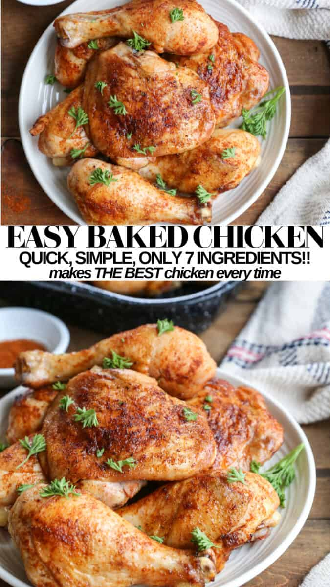 Perfectly Crispy Easy Baked Chicken Thighs and Drumsticks - quick, simple, mouth watering delicious chicken recipe