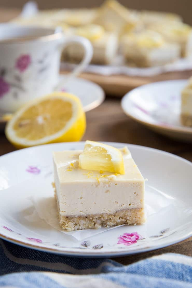 No Bake Paleo Lemon Bars - dairy-free, grain-free, refined sugar-free, and vegan