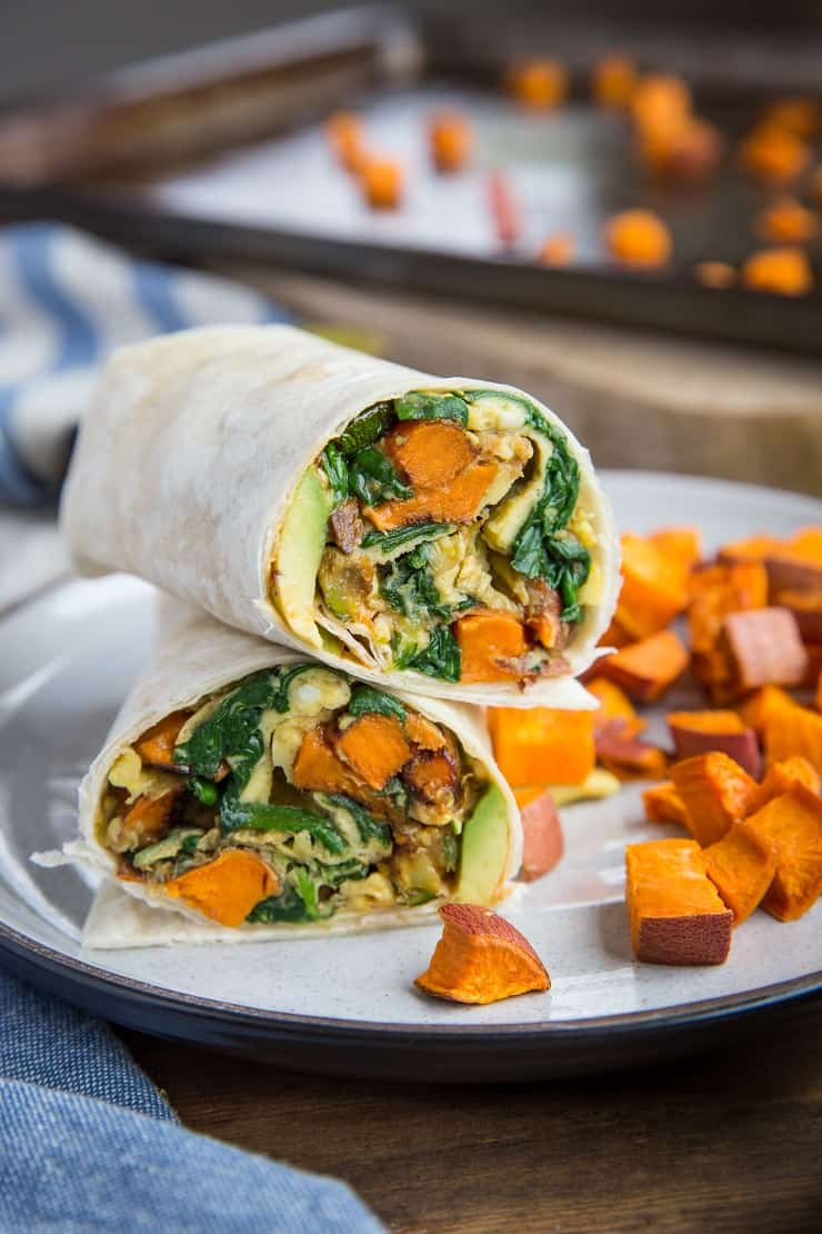 Roasted Veggie And Avocado Breakfast Burritos The Roasted Root