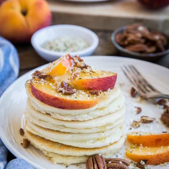Buttermilk Paleo Pancakes - grain-free, refined sugar-free, dairy-free pancake recipe made easily in your blender