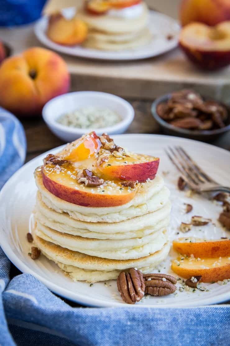 Buttermilk Paleo Pancakes - grain-free, refined sugar-free, dairy-free pancake recipe made easily in your blender