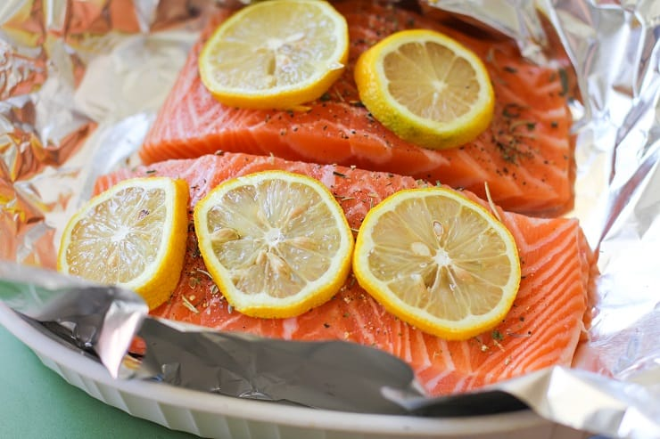 How to Grill Salmon in Foil - an easy method with photos