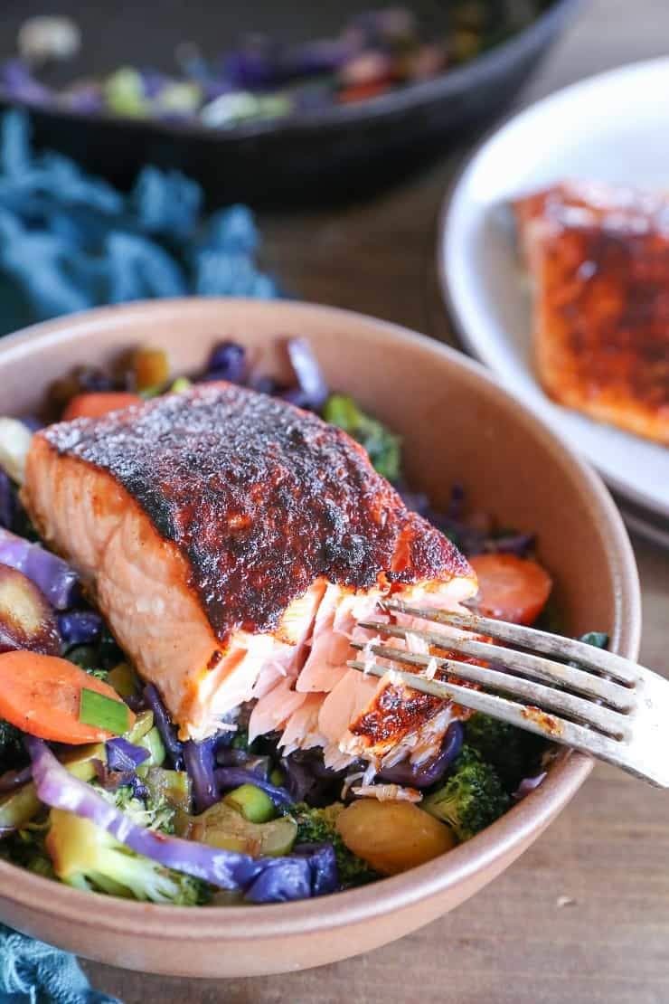 Grilled Salmon with Vegetable Stir Fry
