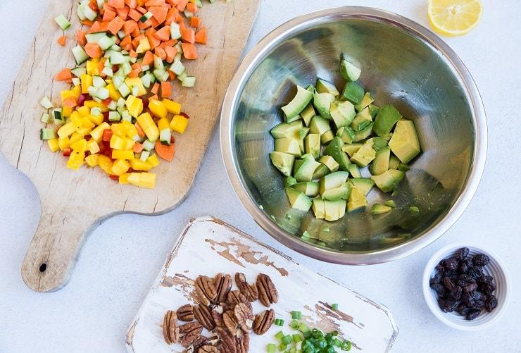 Mango Avocado Chicken Salad ingredients