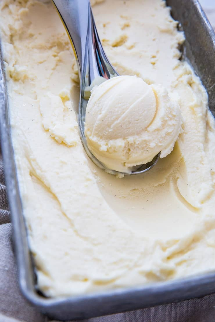 Vanilla Keto Ice Cream - The Roasted Root