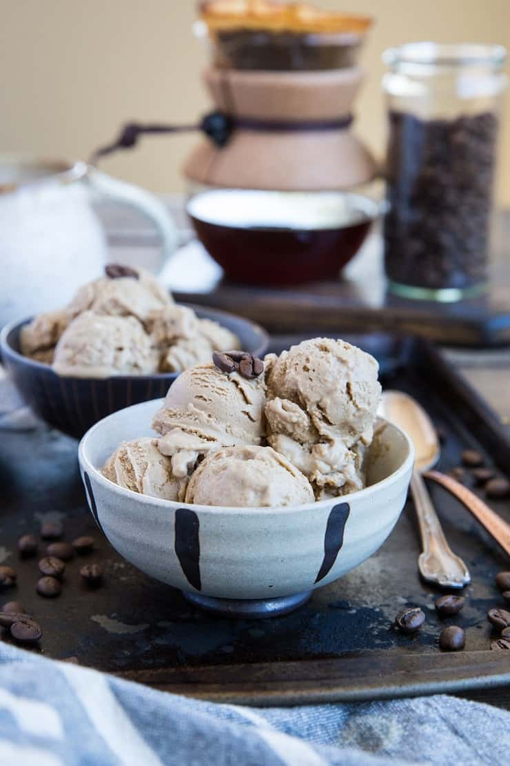 Keto Coffee Ice Cream - a low-carb ice cream recipe that is sugar-free and easy to prepare. Perfect for those who are watching their sugar intake or follow the keto diet. | TheRoastedRoot.net #keto #lowcarb