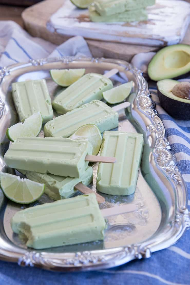 Vegan Key Lime Popsicles - dairy-free, paleo, with a Keto option. These easy popsicles only require a few basic ingredients!