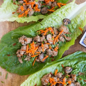 Instant Pot Paleo Asian Turkey Lettuce Wraps - low-carb, paleo, keto, whole30 and delicious! | TheRoastedRoot.com