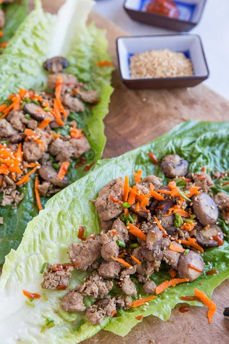 Instant Pot Keto Asian Turkey Lettuce Wraps - low-carb, paleo, keto, whole30 and delicious! | TheRoastedRoot.com