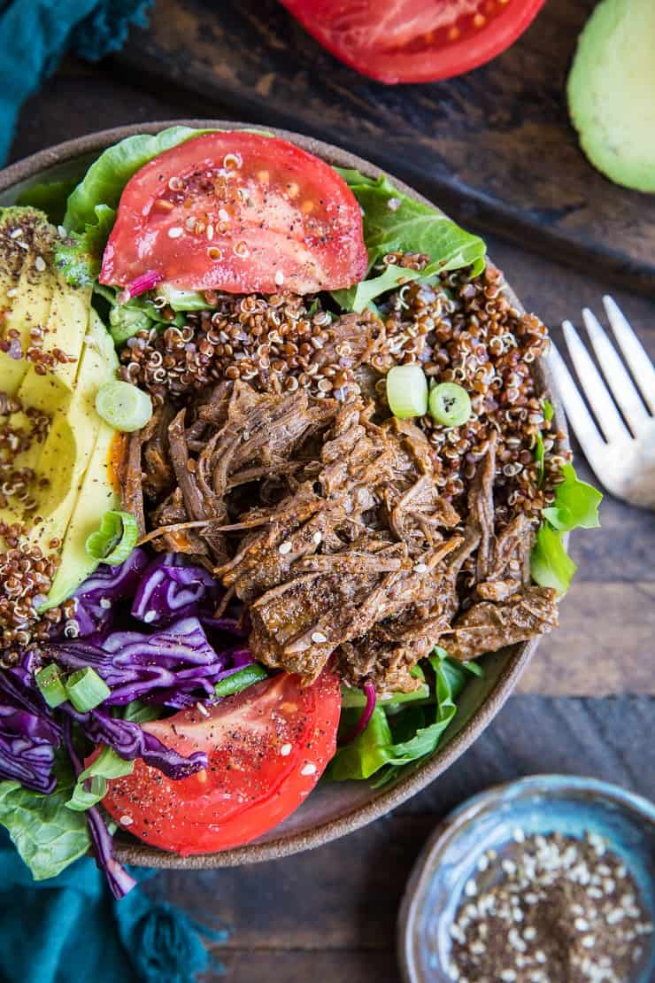 Instant Pot Barbacoa Beef - low-carb, paleo, keto, and only 8 ingredients required! | TheRoastedRoot.net