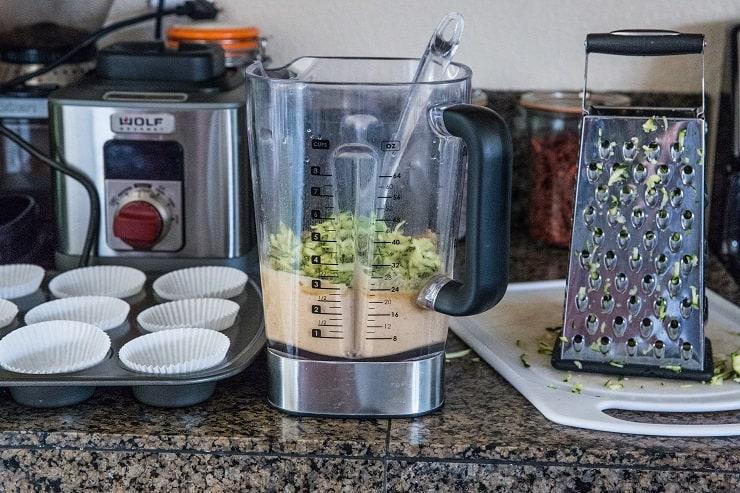 How to make Paleo Zuchini Muffins in a blender