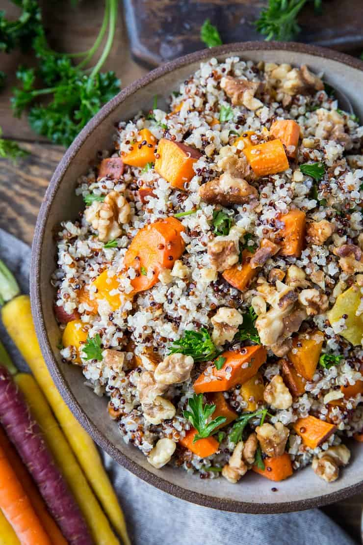 Roasted Winter Vegetable Quinoa Salad With Cider Vinaigrette The Roasted Root