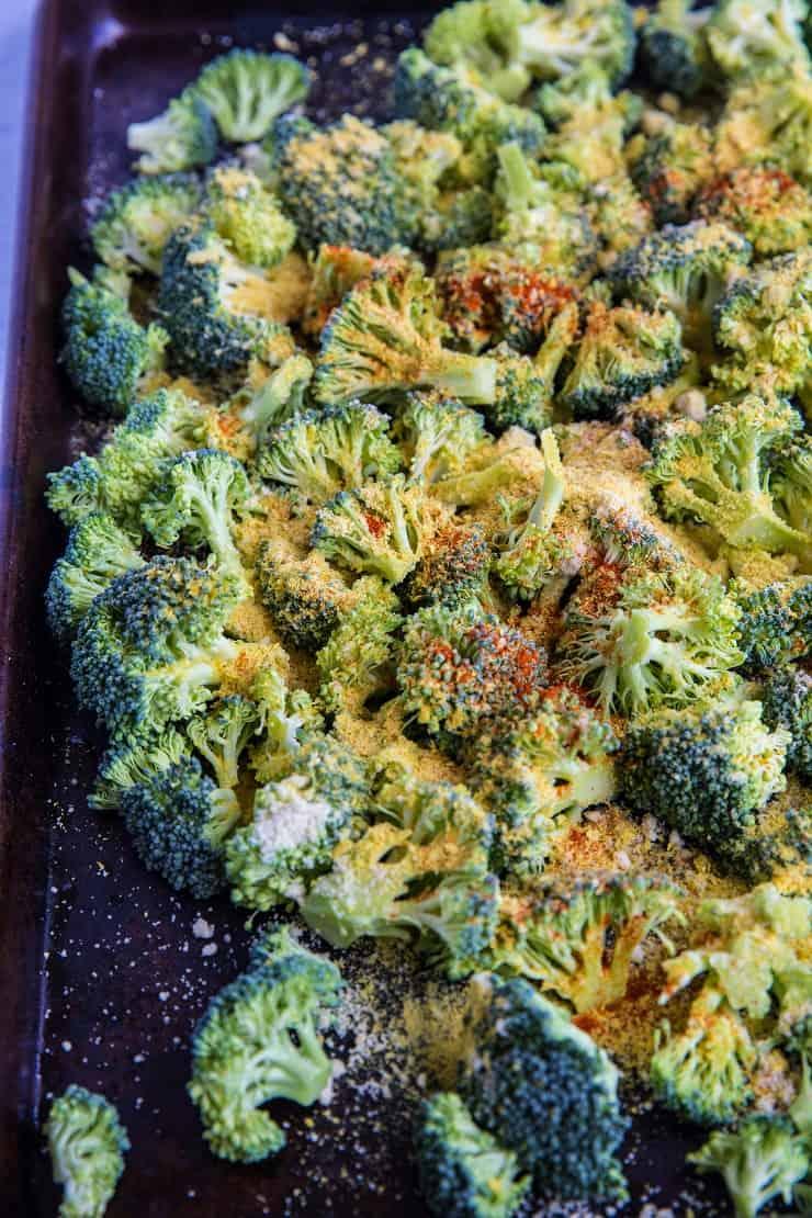 Cheesy Vegan Roasted Broccoli | TheRoastedRoot.net