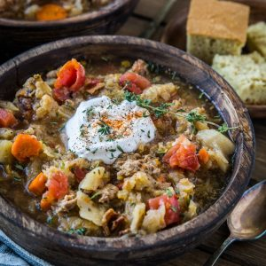 Instant Pot Cabbage and Sausage Stew (with a slow cooker method!) - paleo, Whole30, and healthy | TheRoastedRoot.net