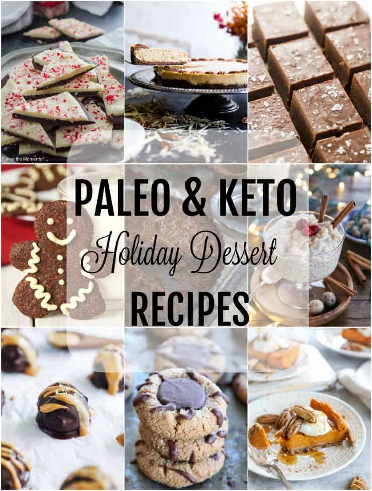 45 Paleo & Keto Holiday Dessert Recipes - healthier dessert options that are grain-free, lower in sugar, and healthy to boot! | TheRoastedRoot.net